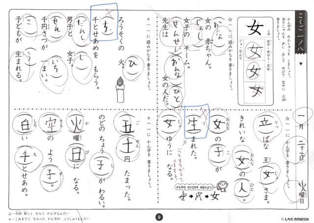七田式思考力こくご NO8